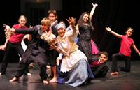 Die Klasse 6d beim Theaterprojekt im Kulturzentrum Pumpe 2006
